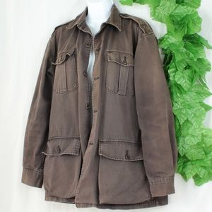Unique Vintage Oversized Distressed Top/Coat RL